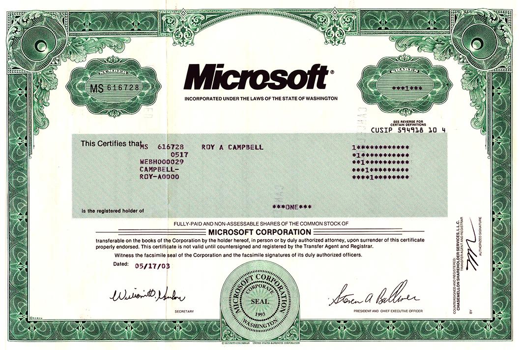 Microsoft Aktie