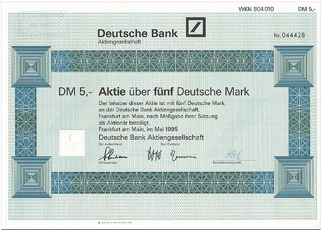 Deutsche Bank Aktie Frankfurt
