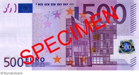 500-Euro-Schein: Gegen Ende 2018 historisch (Foto: Bundesbank)
