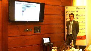 Amir Adnani, CEO von UEC sowie Chairman von Brazil Res. bei der Roadshow in Frankfurt
